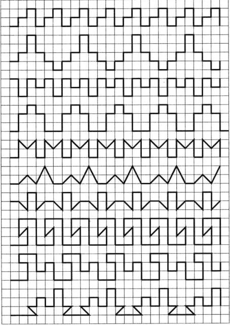 картинки узоры по клеточкам
